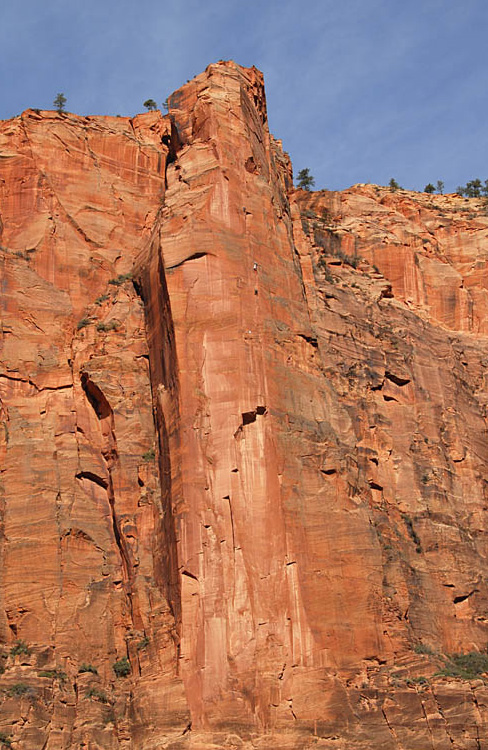 If you want to climb Zion's classic Moonlight Buttress, you better be able to manage fatigue!