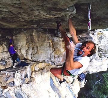 Todd Skinner climbing near Capetown South Africa.