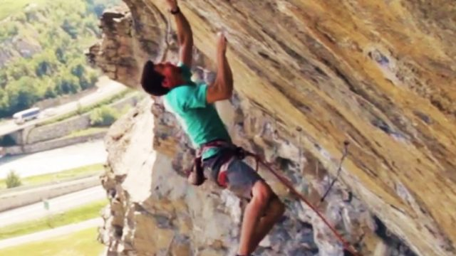 "Stefano Ghisolfi ""Campus Training"" 5.13c Route!"