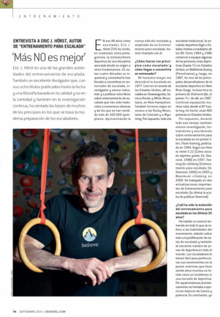 Eric Hörst interview in Escalara magazine #386