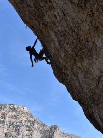 climber ten sleep canyon