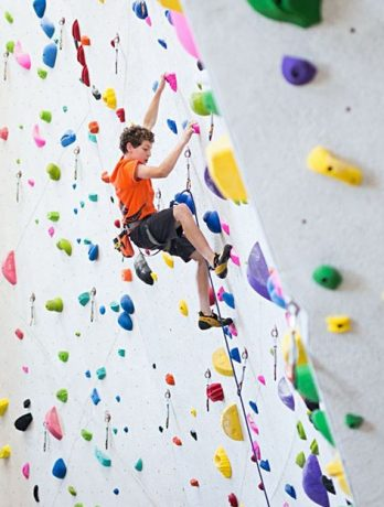 youth lead climbing